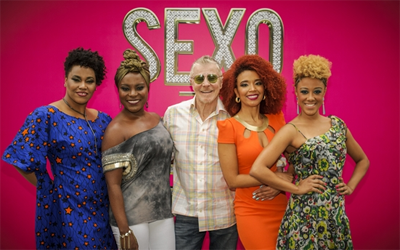 "Elenco de ""Sexo e As Negas"" e o Autor"